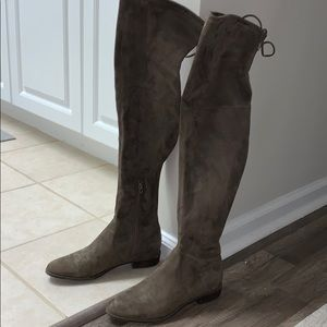 Marc Fisher Over the knee suede taupe boots